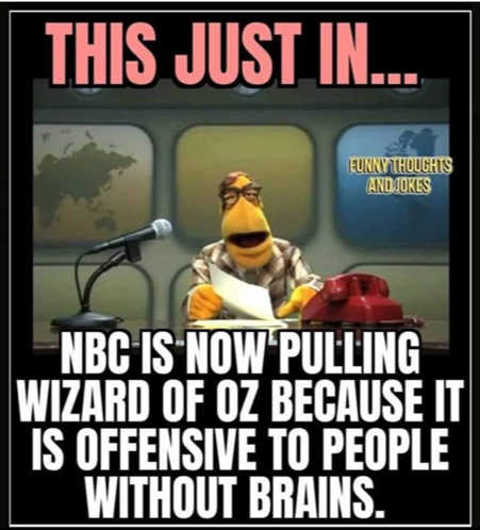 nbc pulling wizard of oz offensive people without brains