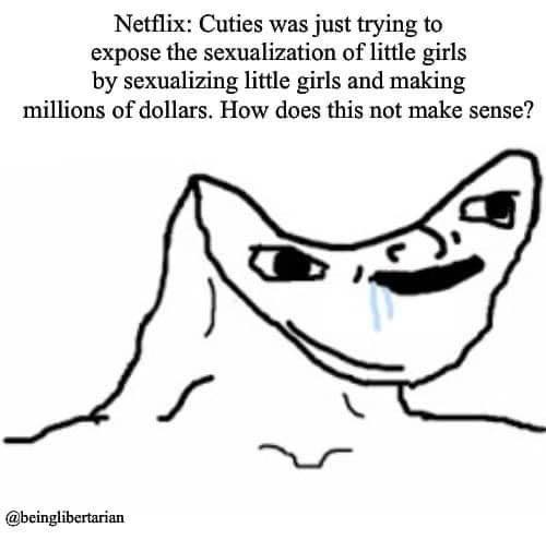 netflix cuties just trying to expose sexualization of little girls by doing making millions