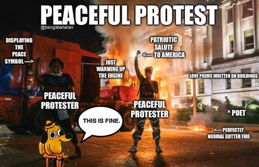 peaceful protest patriotic this is fine warming up engine love poems
