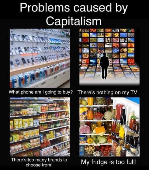 problems caused by capitalism too much entertainment food electronics