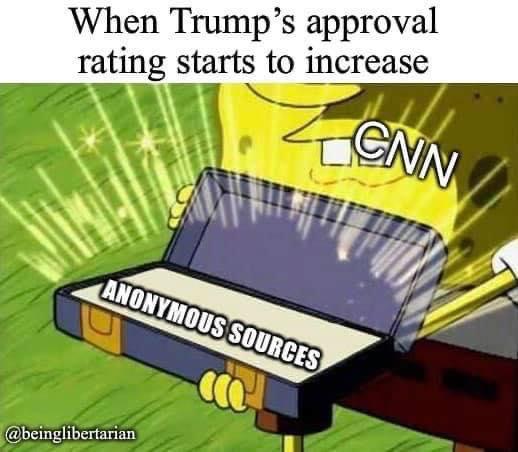 sponge bob when trump approval rises cnn anonymous sources box