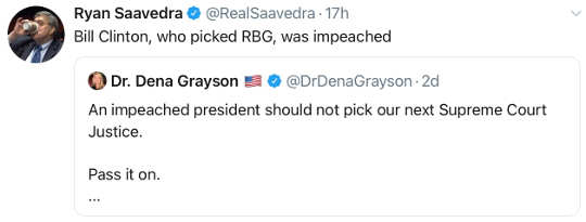 tweet ryan ssavedra impeached president shouldnt pick supreme court bill clinton rbg