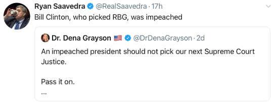 tweet ryan ssavedra impeached president shouldnt pick supreme court bill clinton rbg