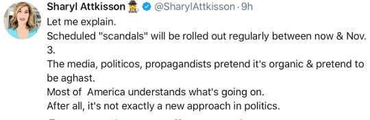 tweet sharyl attkisson scheduled scandals rolled out until november