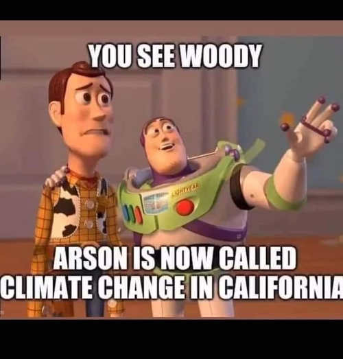 You see woody arson now called climate change