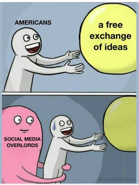 americans free exchange ideas social media overlords