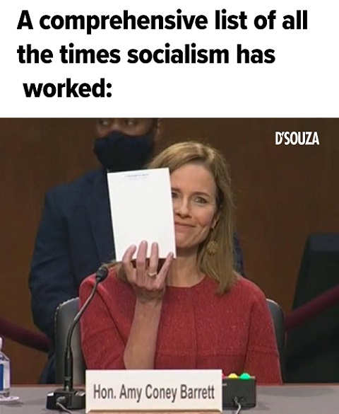 amy coney barrett notepad comprehensive list all time socialism worked blank