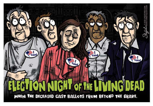 election night of the living dead deceased cast ballots