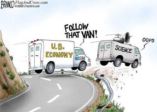 follow that van biden economy following science off cliff