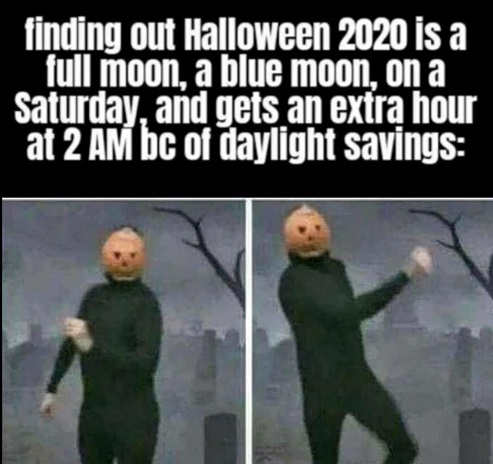 halloween 2020 full blue moon saturday daylight savings