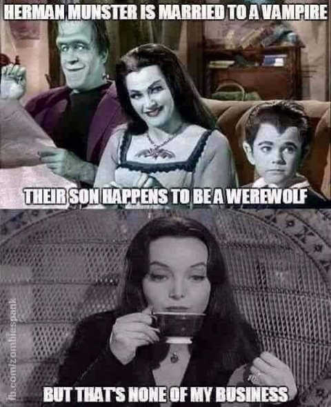 herman munster married to vampire son is werewolf none of my business