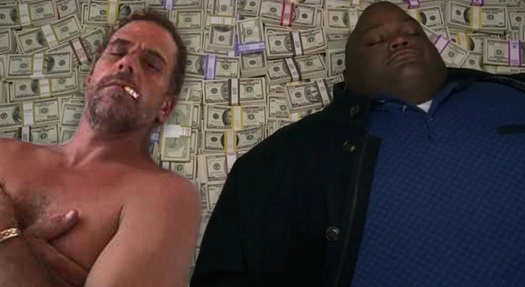 hunter biden laying in cash yule breaking bad