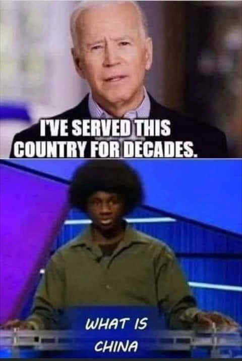 joe biden ive served this country for decades jeopardy what is china