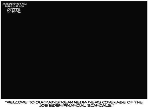 mainstream media news coverage of hunter viden scandal blackout
