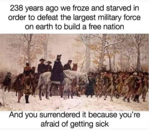 message 238 years ago froze starved build free nation gave it up afraid of getting sick