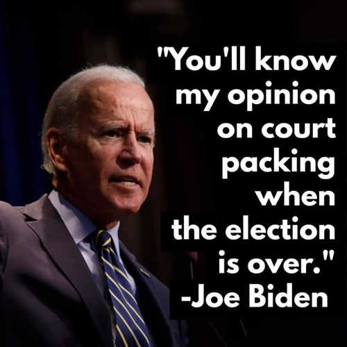 quote joe biden youll know my opinion on court packing when election is over