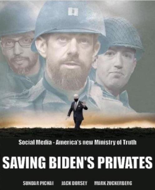 saving biden privates social media ministry of truth sundar pichai jack dorsey mark zuckerberg