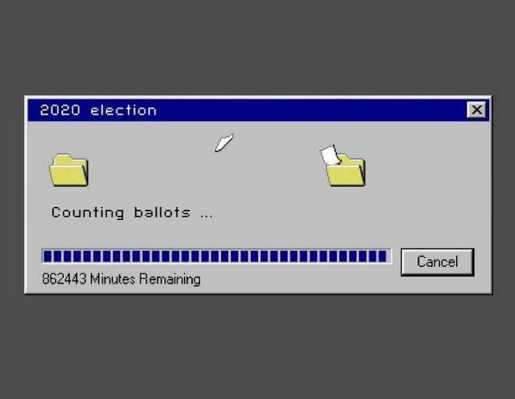 2020 election counting ballons minutes remaining copy windows box