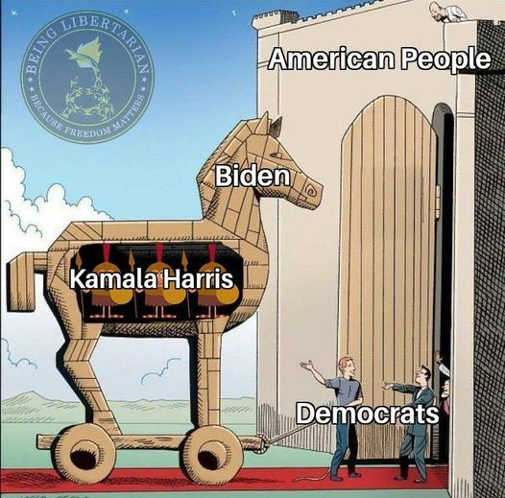 american people trojan hour joe biden kamala harris democrats