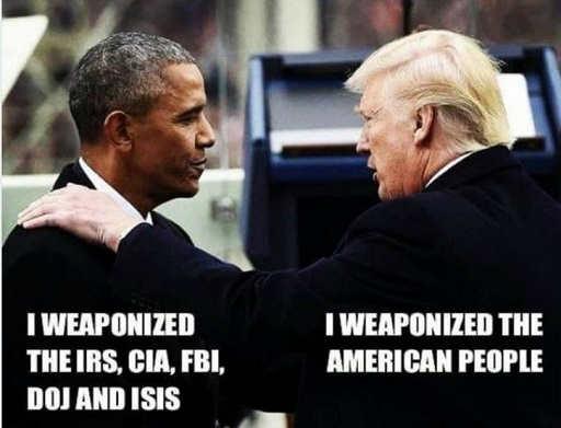 barack obama i weaponized irs cia fbi doj isis trump the american people