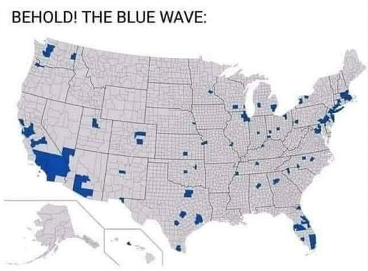 behold the blue wave specks on electoral map