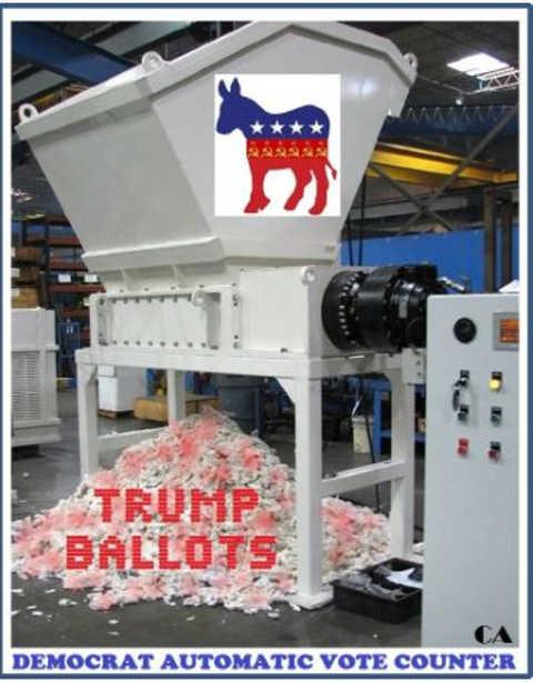 democrat vote counter paper shredder