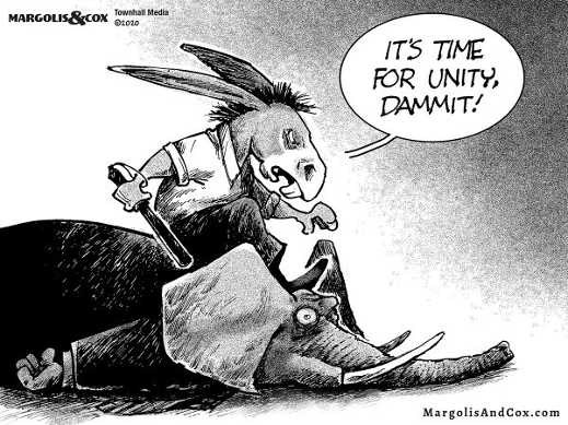 democrats beating republicans time for unity dammit