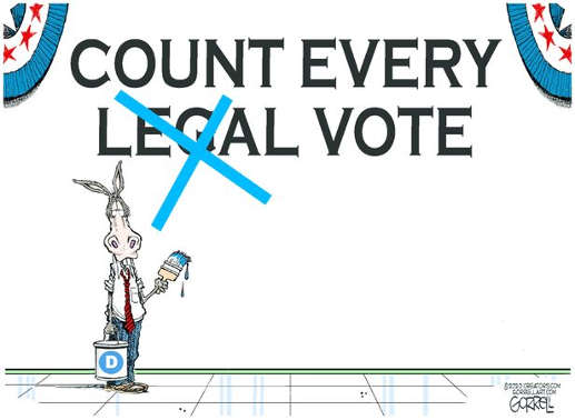 democrats painting over legal count every vote