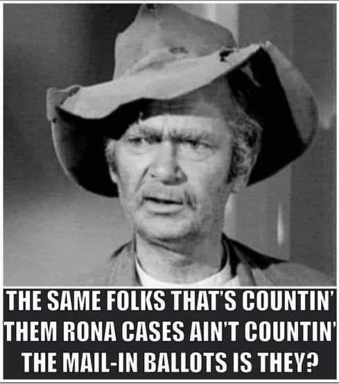 jed clanmpett same folks counting rona cases aint counting mail in ballots