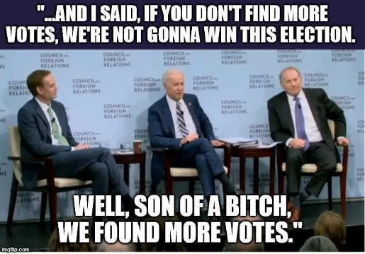joe biden said find more votes win election
