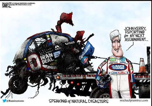 john kerry car wreck iran deal job killer speaking of natural disasters