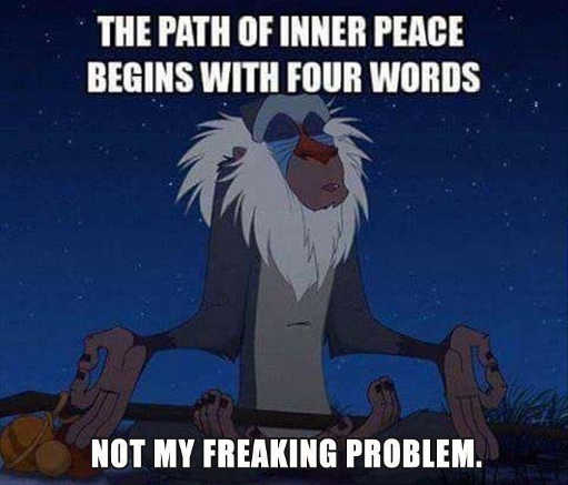 message path of inner peace begins not my freaking problem meditation