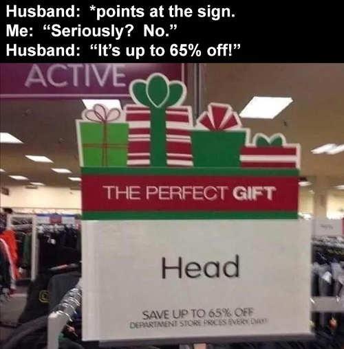 perfect gift head 65 percent off husband wife