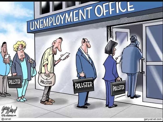 pollsters in line at unemployment office