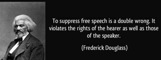 quote frederick douglas suppress free speech double wrong