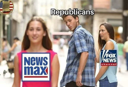 republicans looking at newsmax instead of foxnews girlfriend