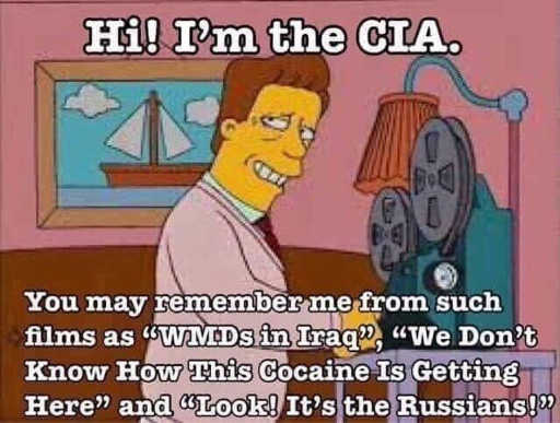 simpsons hi from cia wmds in iraq cocaine look its the russians
