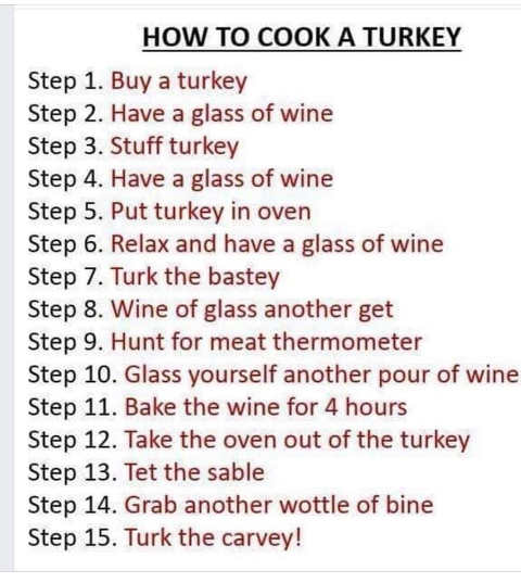 steps how to cook turkey win stuff table drunk