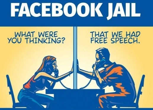 facebook jail what were you thinking that he had free speech prisoner phone