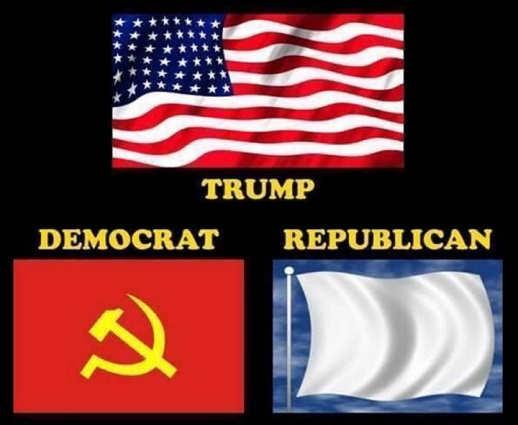 flags trump american democrat soviet republican surrender white