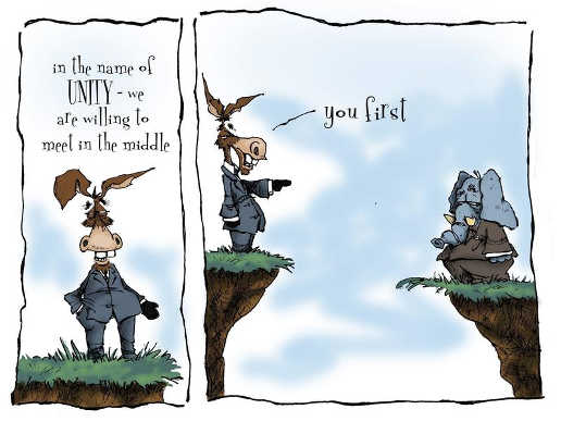 in name of unity democrats republicans meet in middle you first cliff