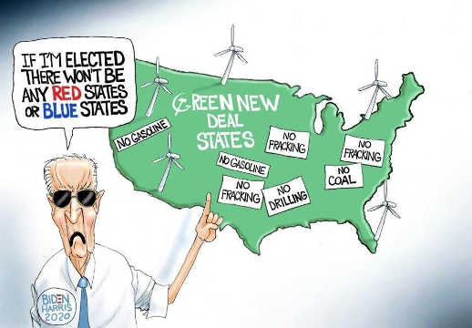 joe biden if elected no red or blue states green new deal no fracking coal drilling gas