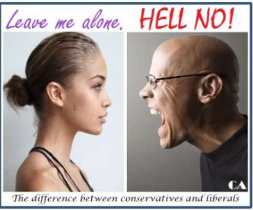 leave me alone vs hell no difference between liberals conservatives