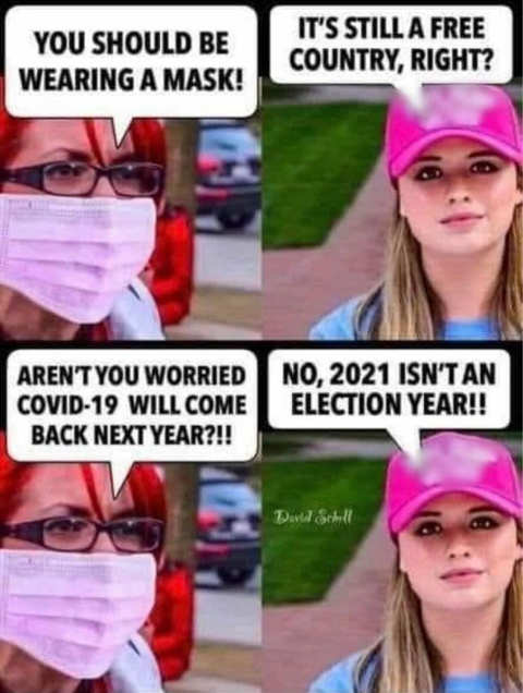 liberal should wear a mask free country 2021 not election year
