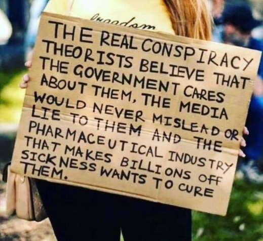 message real conspiracy theory media never lie government cares pharma wants to cure them