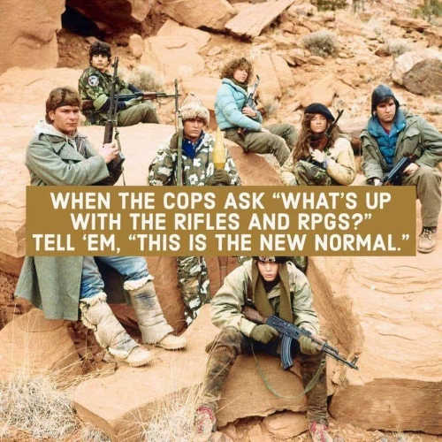 message red dawn when cops ask rifles rpgs new normal
