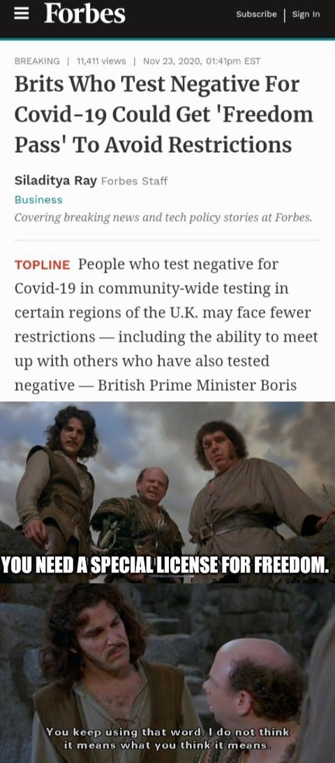 princess bride freedom work doesnt mean what think it does brain passes