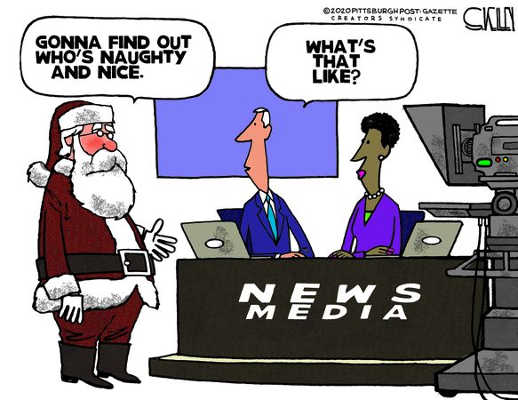santa gonna find out naughty nice news media whats that like