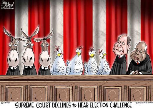 supreme court declines election challenge chickens democrats