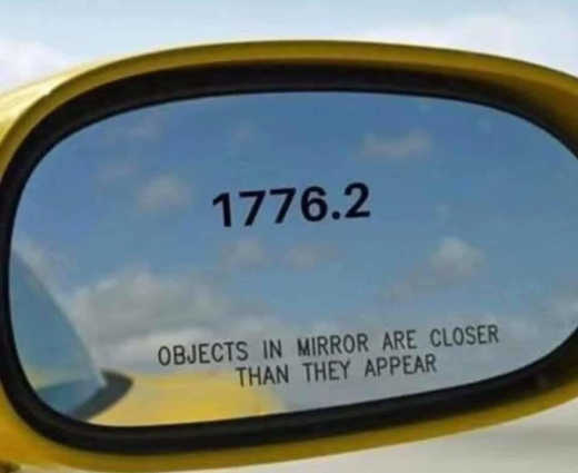 1776 2 objects in mirron are closer than they appear